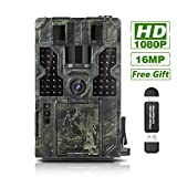 "Clobo Trail Game Camera 16MP 1080P Waterproof Hunting Scouting Cam Wildlife Monitoring 130° Detection with 0.2s Trigger Speed 2.4"" LCD IR LEDs IP55 Waterproof Design for Wildlife Hunting"