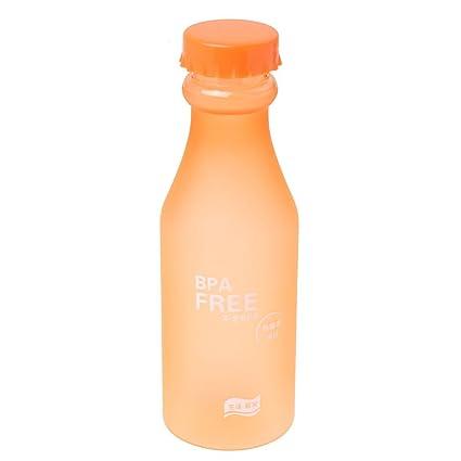 SODIAL(R) 550ml 23oz BPA Botella De Agua DePlastica Irrompible para Bicicleta De Ciclismo