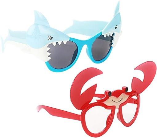 non-brand 2 Piezas Gafas de Sol Divertidas de Cangrejo/Tiburón de ...