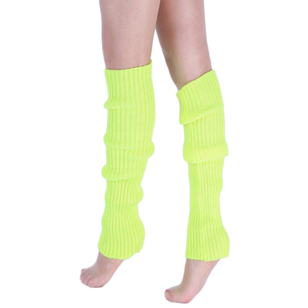 Shujin Damen Mädchen Winter Strick Socken Beinstulpen Stulpe Legwarmers Kniestrümpfe Knee Boots Socks 42cm) E16SN097