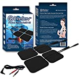 iReliev Electrodes 4 Piece with 2 Lead Wires, 6.4