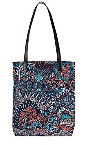 Snoogg Strandtasche, mehrfarbig (mehrfarbig) - LTR-BL-3802-ToteBag