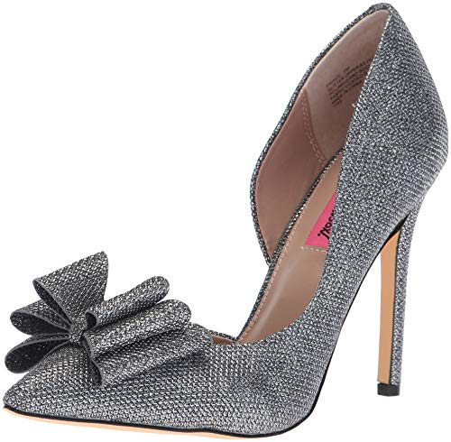 Johnson Betsey Evening (Betsey Johnson Women's Prince D'Orsay Pump, Pewter, 6.5 M US)