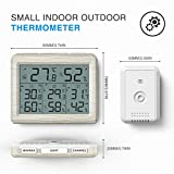 AMIR Indoor Outdoor Thermometer, 3 Channels Digital Hygrometer Thermometer with 3 Sensor, Humidity Monitor Wireless with LCD Display, Room Thermometer and Humidity Gauge for Home, Office