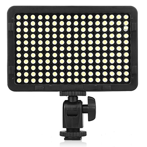 Kshioe Dimmable 176 LED Ultra Bright Video Photo Light Panel, Photo Studio High Power On-Camera Video Lights With 1/4-inch Thread Mount for Canon,Nikon,Pentax,Panasonic,Sony And Other Digital SLR Came by Kshioe