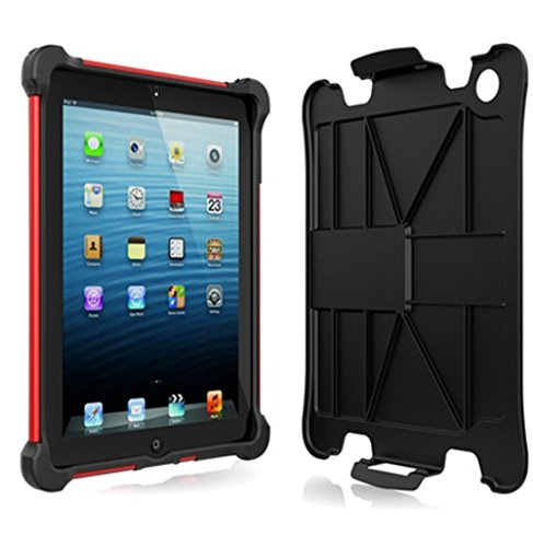 Ballistic Tough Jacket Case with Video Stand for iPad 2 (Released 2011) iPad 3 (Released 2012) and iPad 4 (Released 2013) - Retail Packaging - Black/Red (Not for iPad Air Models or iPad Released in 2017)