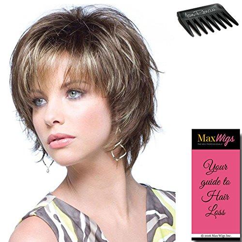 Mocha Marble Top - Sky Large Cap Wig Color Marble Brown - Noriko Wigs Short 5