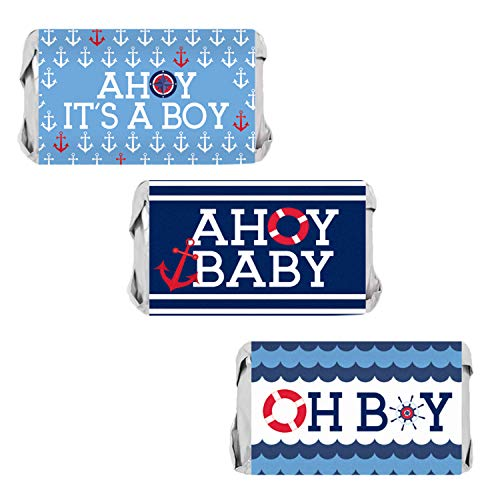 Ahoy It's a Boy Baby Shower Mini Candy Wrappers | 54 -