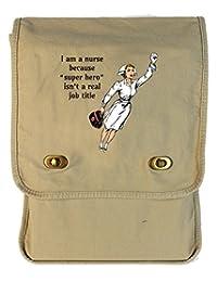 Tenacitee Super Hero Nurse Putty Canvas Field Bag
