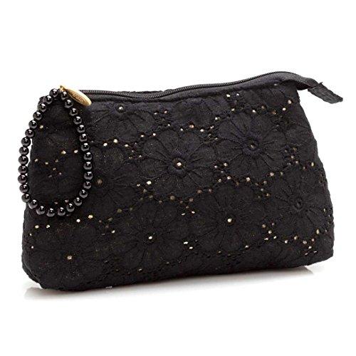 SABON Cosmetic Bag, Black Lace