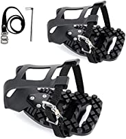 Toe Cage Adapters Compatible with Peloton Bike & Bike+ - Convert Look Delta Pedals to Toe Cages and Straps