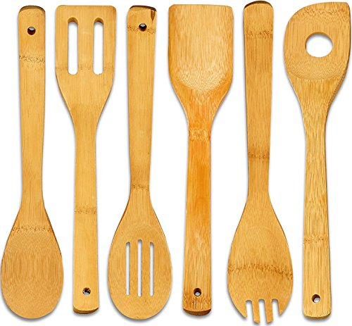 Bamboo Cooking Utensil-Set (6-Pieces) - Utopia Kitchen