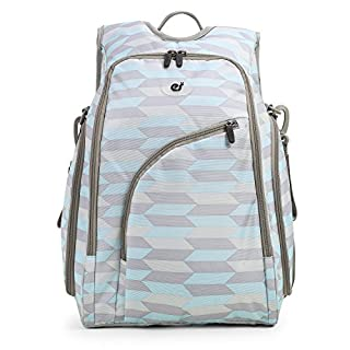 ECOSUSI Diaper Backpack Fully-Opened Baby Nappy Bag with Changing Pad Maternity Bag