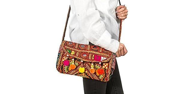 Amazon.com: Patchwork acolchado mujeres crossbody Purse ...