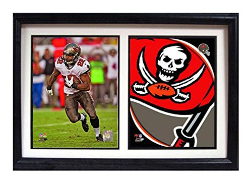 (Encore Select 117-30 NFL Tampa Bay Buccaneers Double Frame Photo and Team Logo Print, 12-Inch by 18-Inch)