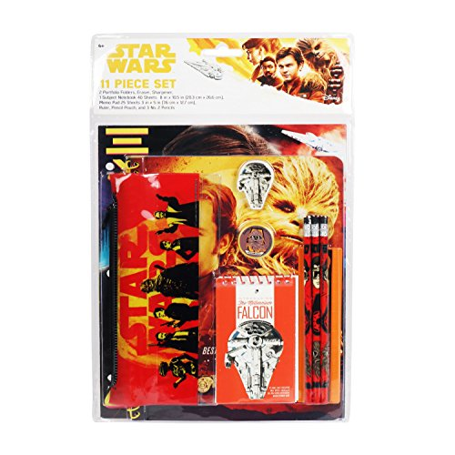 Star Wars Han Solo Stationery Set School Supplies for Boys / 11 Pieces by Star Wars