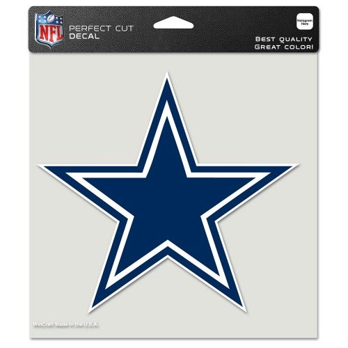 NFL Dallas Cowboys 8-by-8 Inch Diecut Colored Decal (Nfl Country Sign Wood)