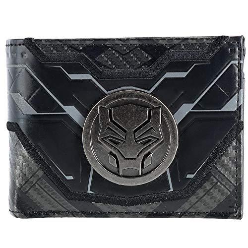 Black Panther Black Bi-Fold Wallet Standard