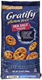 Gratify Gluten Free Pretzel Thins Sea Salt Vegan GF Pretzel Crisps, 10.5oz Bag (Pack of 6)