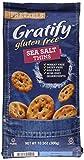 Gratify Gluten Free Pretzel Thins Sea Salt Vegan GF Pretzel Crisps, 10.5oz Bag (Pack of 6)