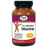 Pure Essence Labs PEL PureBiotics Maxima - 15 Probiotic Strains - 100 Billion CTU - 60 Delayed Release Vegetarian Capsules