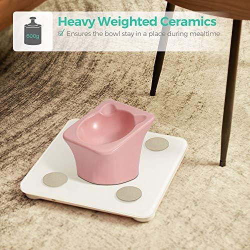 ComSaf Bol d'alimentation et d'eau en Céramique,