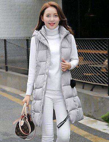 YRF Gray Coat Solid Hooded 2XL chic Sleeveless Women's Padded Black Red Street rqxIrHwYn