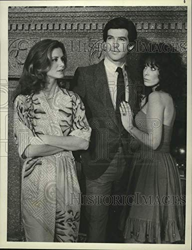Vintage Photos 1982 Press Photo Cast of Remington Steele Together for Steele Trap Episode