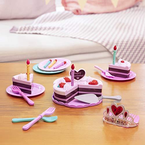 Play Circle By Battat Princess Birthday Party 24 Piece Pretend Cake