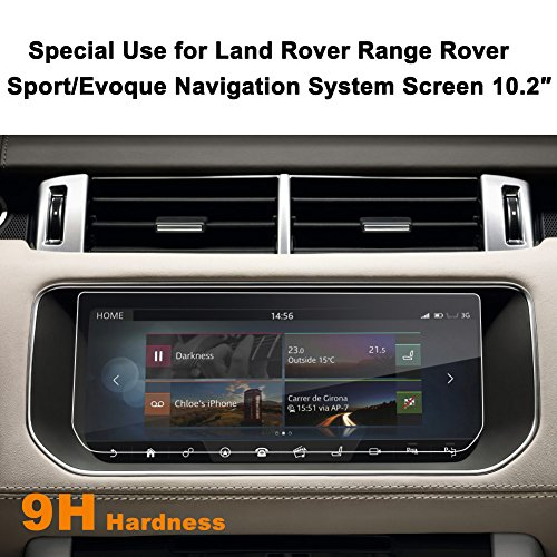 Land Rover Range Rover Sport/Evoque 2017 10.2-Inch Car Navigation Screen Protector,LFOTPP [9H Hardness] Tempered Glass In-Dash Screen Protector Center Touch Screen Protector Anti Scratch High -