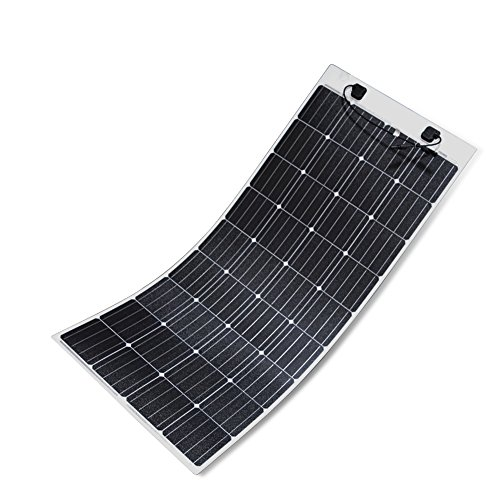 (Renogy 160 Watt 12 Volt Extremely Flexible Monocrystalline Solar Panel - Ultra Lightweight, Ultra Thin, Up to 248 Degree Arc, for RV, Boats, Roofs, Uneven Surfaces)