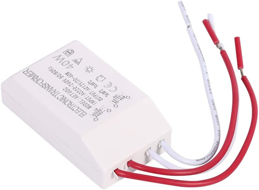 Electronic Low Voltage Transformer Halogen Dimmable Transformer AC 220V-240V to AC 12V Power Supply Driver Adapter 40W
