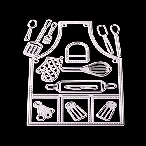 Dies Cut Cutting Die for Cards Apron Kitchenware Kitchen utensils Metal Embossing Stencils for DIY Craft Scrapbooking Photo Album Decorative Paper Gift Debossing Border