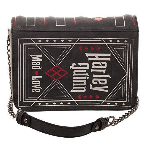 Bioworld DC Comics Harley Quinn Mad Love Handbag Ladies Purse Hand Bag