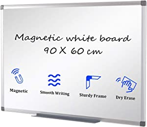 Swansea Magnetic White Board A1 Dry Erase Wipe Boards Office Wall Wipe Board 36x24inches (WxH)
