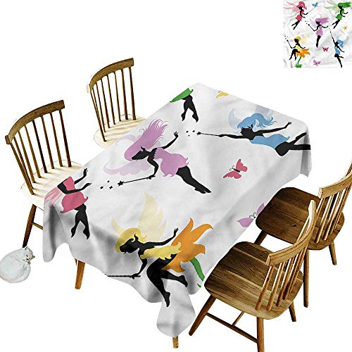 home1love Fashions Rectangular Table Cloth Fantasy Cute Pixie Elf Fairy Fashions Rectangular 60