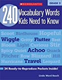 vocabulary for kids - 240 Vocabulary Words Kids Need to Know: Grade 2: 24 Ready-to-Reproduce Packets Inside! (Teaching Resources)