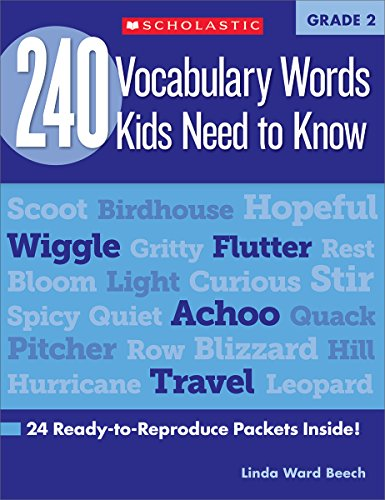 R.E.A.D 240 Vocabulary Words Kids Need to Know: Grade 2: 24 Ready-to-Reproduce Packets Inside! (Teaching Res [Z.I.P]