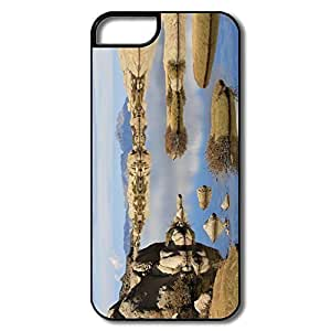 IPhone 5S Cases, Summer Lake Reflexion Covers For IPhone 5 - White/black Hard Plastic