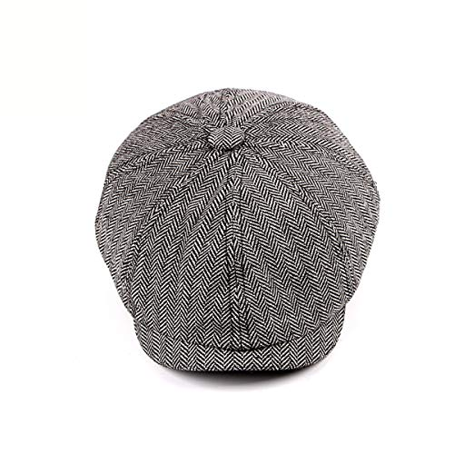 de Vintage Sombreros los qin Hombres B a GLLH Moda Cuadros Boina Sombrero A hat de Octagonal Sombrero fwXAWBqI