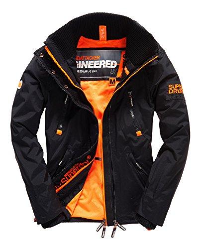 Superdry Men's Wind Attacker Jacket Black/Fluro Orange Small