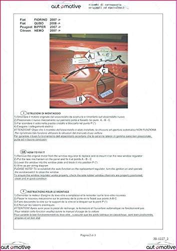 Proposteonline Meccanismo alzavetro alzacristalli Sinistro Compatibile con Citroen Nemo dal 2007 in Poi 01358