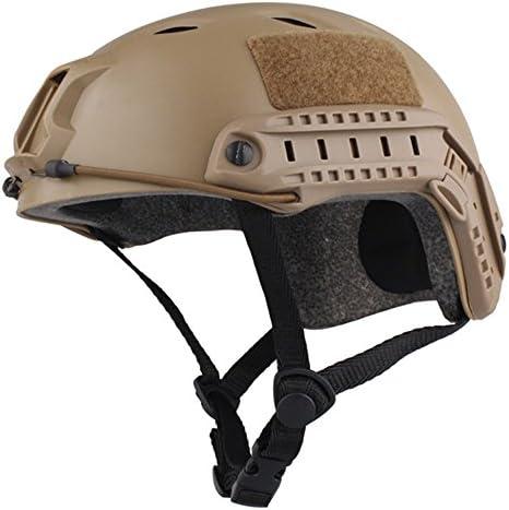 [スポンサー プロダクト]swat 装備 サバゲー ヘルメット マスク ヘルメット 取り付け ミリタリー風 軽量 カメラ付ける可能 スキーヘルメット DE