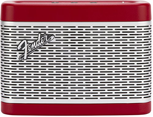 Fender Newport Battery Powered Portable Bluetooth Speaker - Red (Best Battery Powered Speakers)