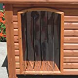 Outback Dog House Door in Clear Size: Medium / Large (25'' x 14.5'')