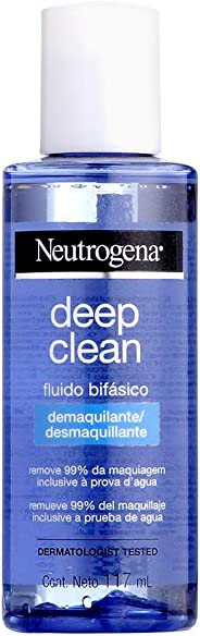 Fluído Bifásico Demaquilante Deep Clean, Neutrogena, 117ml