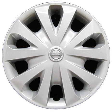 OEM Nissan rueda cover - profesionalmente refinished como nuevo - 15 en repuesto Tapacubos para 2012 - 2017 Versa: Amazon.es: Coche y moto