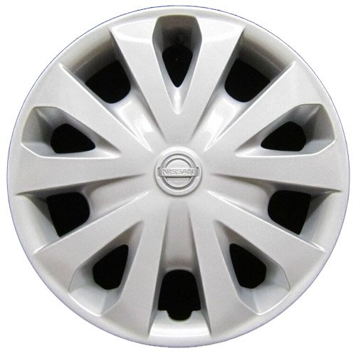 (OEM Genuine Nissan Wheel Cover - Professionally Refinished Like New - 15in Replacement Hubcap Fits 2012-2018 Versa)
