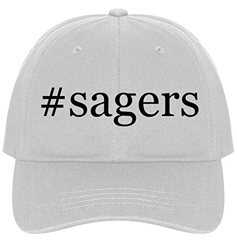 (The Town Butler #Sagers - A Nice Comfortable Adjustable Hashtag Dad Hat Cap, White)