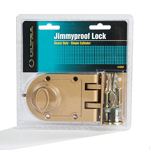Heavy Duty Jimmy Proof Deadbolt Door Lock Brass Single